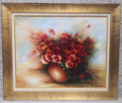 Poza Vas cu flori rosii 2