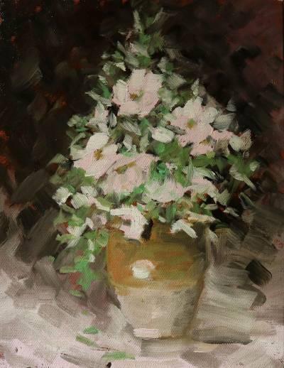 Poza Vas cu flori roz