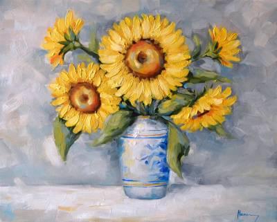 Poza Vaza cu floarea soarelui