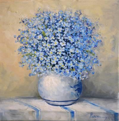 Poza Vaza cu flori de nu ma uita
