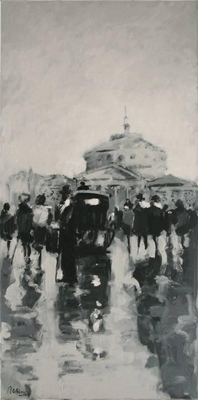 Poza Vechiul Bucuresti in alb si negru