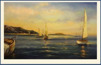 Poza veliere pe mare