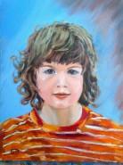 Picturi cu potrete/nuduri Portrait of my grandson dominic