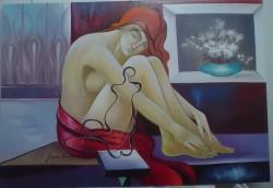 Picturi cu potrete/nuduri Nud cu vaza--------8
