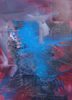 Picturi abstracte/ moderne Fereastra albastra