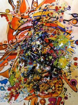Picturi abstracte/ moderne detaliu de la Iubiri tomnatice 1