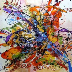 Picturi abstracte/ moderne detaliu de la Iubiri tomnatice 2