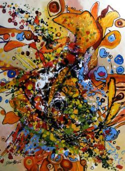 Picturi abstracte/ moderne detaliu de la Iubiri tomnatice 3
