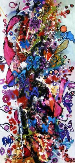 Picturi abstracte/ moderne  Visul unui fluture
