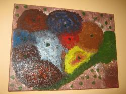 Picturi abstracte/ moderne flori mari