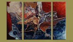 Picturi abstracte/ moderne triptik-spatiul intergalactic