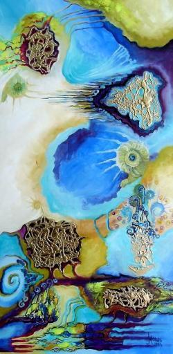 Picturi abstracte/ moderne Pe aleea melcilor
