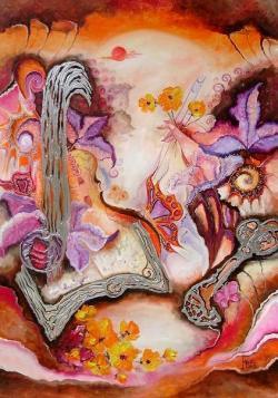 Picturi abstracte/ moderne Un vis fara sfarsit