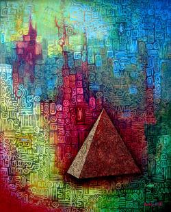 Picturi abstracte/ moderne La Pirámide y los 7 Escorpiones de ISIS