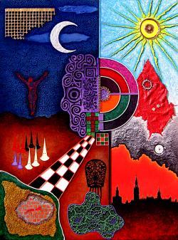 Picturi abstracte/ moderne Semana Santa en Sevilla