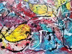 Picturi abstracte/ moderne Balena galbena