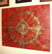 Picturi abstracte/ moderne Metal red star