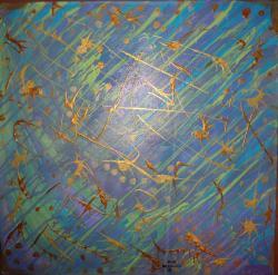 Picturi abstracte/ moderne Purple magic