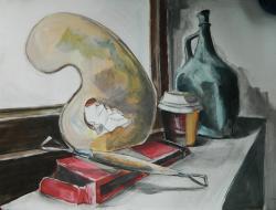 Picturi abstracte/ moderne detaliu atelier