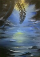 Picturi abstracte/ moderne Exotic summer night