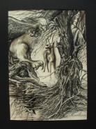 Picturi abstracte/ moderne Fantasmele padurii