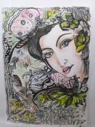 Picturi abstracte/ moderne Sufletul gradinii