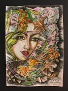 Picturi abstracte/ moderne Taramul fluturilor