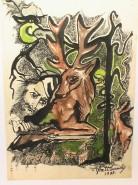 Picturi abstracte/ moderne Vanatoarea de cerbi