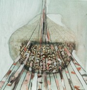 Picturi abstracte/ moderne Padurea de langa mare