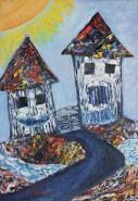 Picturi abstracte/ moderne Turnulete vesele