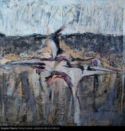 Picturi abstracte/ moderne Peisaj in ploaie