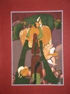 Picturi abstracte/ moderne Flori de colt