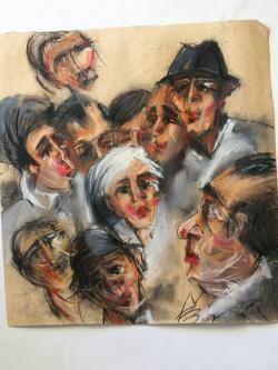 Picturi abstracte/ moderne grup de oameni