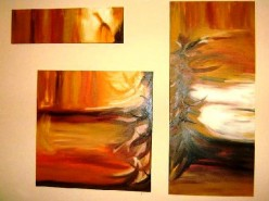 Picturi abstracte/ moderne Spini de savana