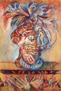 Picturi abstracte/ moderne Compozitie cu maini ii