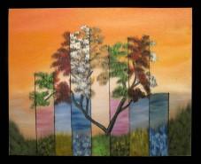 Picturi abstracte/ moderne Copac in culori