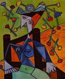 Picturi abstracte/ moderne MIREASA ALBASTRA