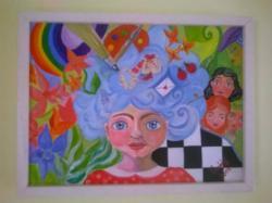 Picturi abstracte/ moderne Cu capul in nori