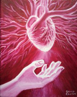 Picturi abstracte/ moderne A darui o inima