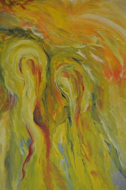 Picturi abstracte/ moderne Siluete-n soare