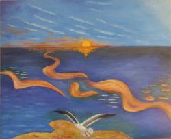 Picturi abstracte/ moderne La mare (1)