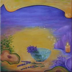 Picturi abstracte/ moderne Vis cu lavanda