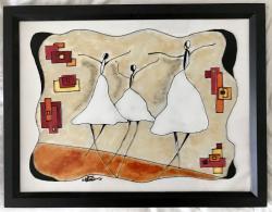 Picturi abstracte/ moderne Dansând prin lume