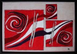 Picturi abstracte/ moderne In trei