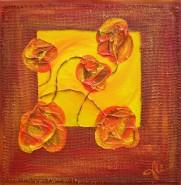 Picturi abstracte/ moderne Flori la fereastra