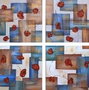 Picturi abstracte/ moderne Flori sincron 2