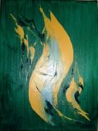 Picturi abstracte/ moderne Pestele galben
