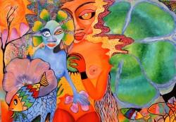 Picturi abstracte/ moderne Flower power