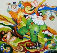 Picturi abstracte/ moderne Viata de clovn