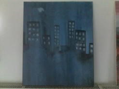 Picturi abstracte/ moderne Night city